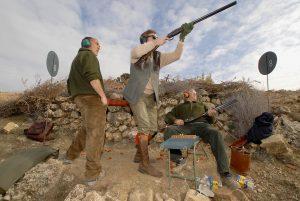 Red partridge hunt in Spain